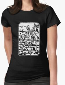 The Death - Old Indian / Asian Tarot Card - black/white Womens Fitted T-Shirt