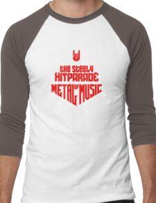 The steely Hitparade of Metal Music 2 (red white) Men's Baseball ¾ T-Shirt