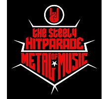 The steely Hitparade of Metal Music 2 (red white) Photographic Print