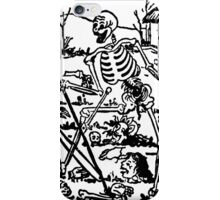 The Death - Old Indian / Asian Tarot Card - black/white iPhone Case/Skin