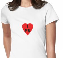 I Love PR - Country Code PR T-Shirt & Sticker Womens Fitted T-Shirt
