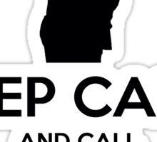 Keep Calm and Call Harvey Specter (Black) Sticker
