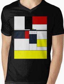 Mondrian Tardis Mens V-Neck T-Shirt