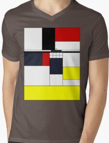 Mondrian Tardis Mens V-Neck T-Shirt