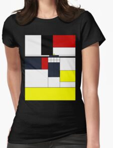 Mondrian Tardis Womens Fitted T-Shirt