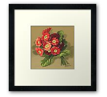 Primrose - acrylic painting on canvas Framed Print