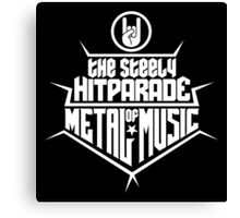 The steely Hitparade of Metal Music 2 (white) Canvas Print