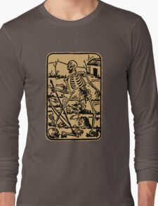The Death - Old Indian Asian Tarot Card - natural Long Sleeve T-Shirt