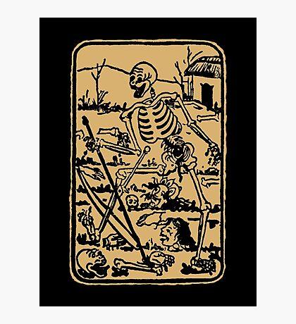 The Death - Old Indian Asian Tarot Card - natural Photographic Print