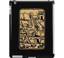 The Death - Old Indian Asian Tarot Card - natural iPad Case/Skin