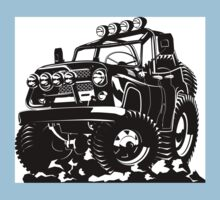 Cartoon jeep One Piece - Short Sleeve