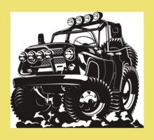 Cartoon jeep Baby Tee