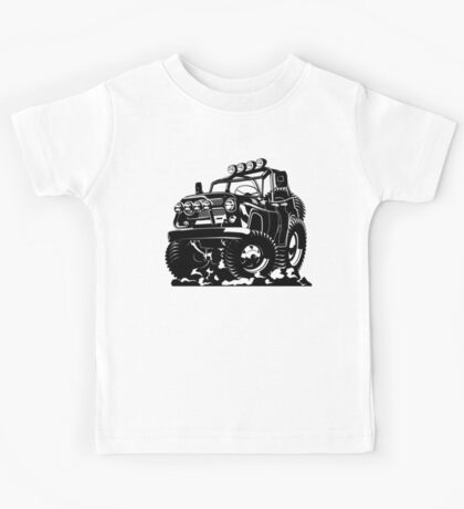 Cartoon jeep Kids Tee