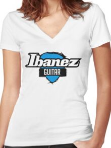 IBANEZ GUITAR Women's Fitted V-Neck T-Shirt