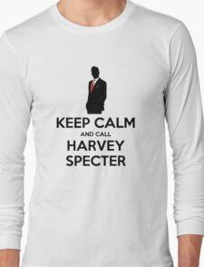 Keep Calm and Call Harvey Specter (Black) Long Sleeve T-Shirt