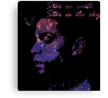 Prince - Star on earth, star in the sky (shirt and Wall art) Canvas Print