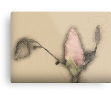 Digitally manipulated Red Rose bud Metal Print