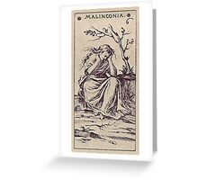 Malinconia Tarot Greeting Card