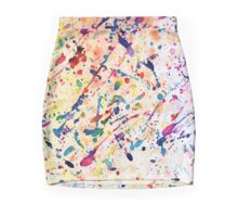 Rainbow Paint Spatter Mini Skirt