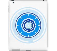 blue circular pattern globe design technology swirls cool futuristic iPad Case/Skin