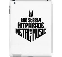 The steely Hitparade of Metal Music No.1 (black) iPad Case/Skin