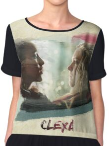 Clexa - The 100 - brush Chiffon Top