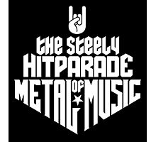 The steely Hitparade of Metal Music No.1 (white) Photographic Print