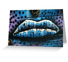 Lips graffiti Greeting Card