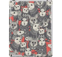 sweater mice coral red iPad Case/Skin