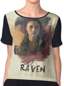 Raven - The 100 -  Brush Chiffon Top