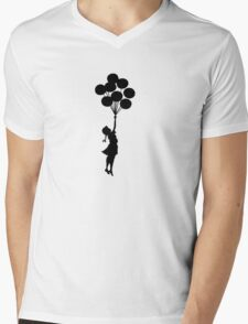 Balloon Girl  Mens V-Neck T-Shirt