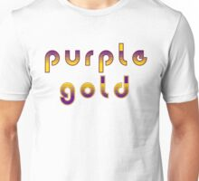 Purple and Gold Unisex T-Shirt