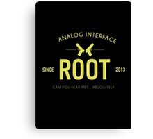 Person of Interest - Root - Black Canvas Print