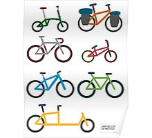 UNITED COLORS OF BICYCLES. Poster