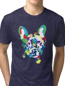 Französische Bulldogge Welpe Tri-blend T-Shirt