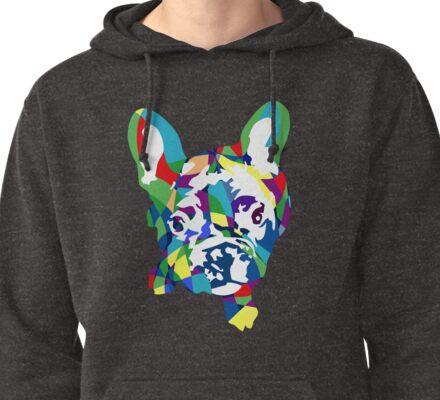 Französische Bulldogge Welpe Pullover Hoodie