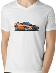 Cartoon muscle car Mens V-Neck T-Shirt