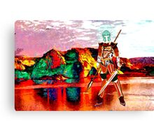 Female Warrior from New Earth Canvas Print
