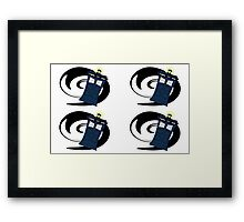 Doctor Who Pattern 2 Framed Print