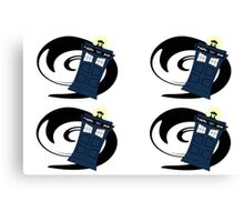 Doctor Who Pattern 2 Canvas Print
