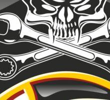 Moto Jolly Roger Badge Sticker
