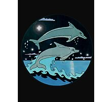 Dolphin`Leap for the Stars II' Tee Shirt Photographic Print