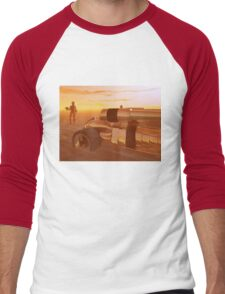 ARES CYBORG IN THE DESERT OF HYPERION,Sci Fi Men's Baseball ¾ T-Shirt