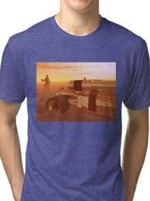 ARES CYBORG IN THE DESERT OF HYPERION,Sci Fi Tri-blend T-Shirt