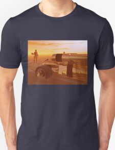 ARES CYBORG IN THE DESERT OF HYPERION,Sci Fi Unisex T-Shirt