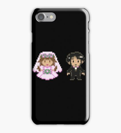 8-bit Bride and Groom iPhone Case/Skin
