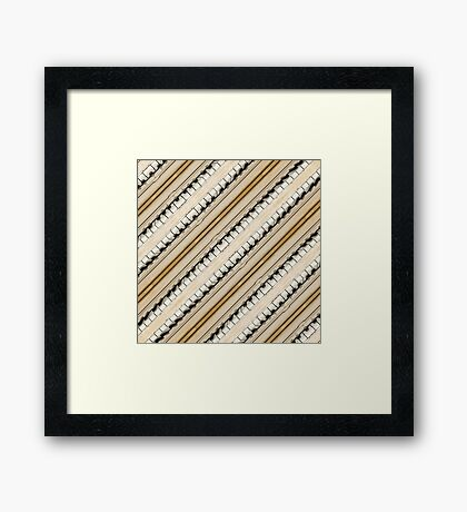 Vintage Piano Keys Graphic Framed Print