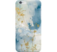 Modern navy and gold abstract painting iPhone Case/Skin