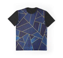 Blue Stone / Yellow Lines Graphic T-Shirt