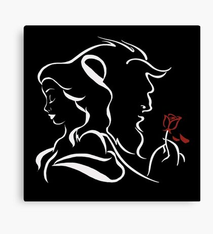 beauty and the beast TB Canvas Print